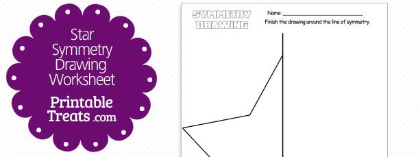 Star Symmetry Drawing Worksheet — Printable Treats Com
