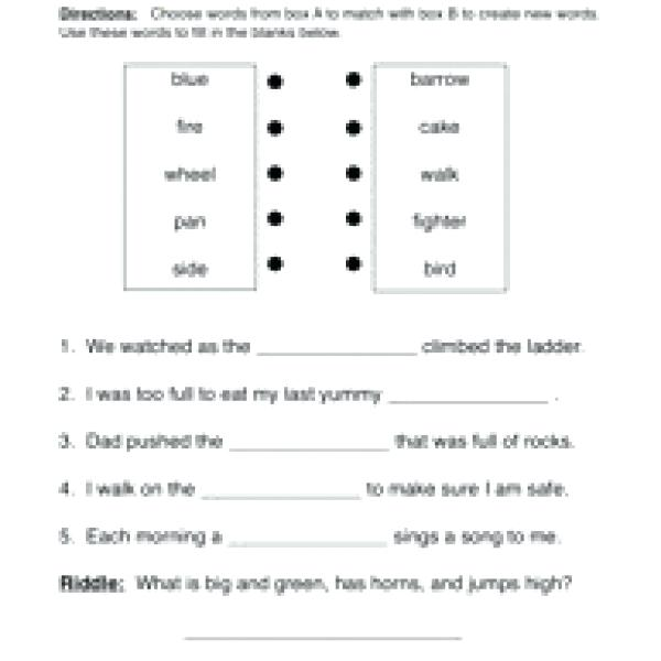 Hyphenated Compound Words Worksheets – Arrahmah