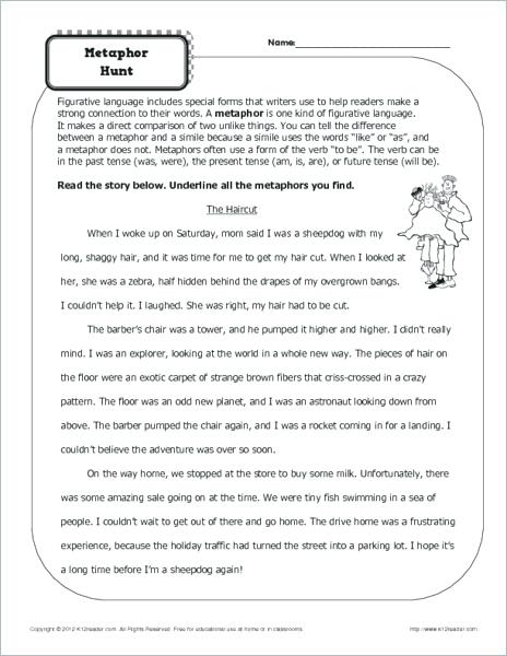 Simile Worksheets 3rd Grade – Tagn