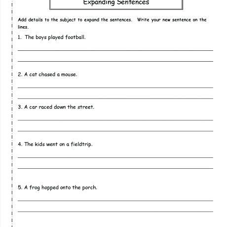 Printables Of Handwriting Worksheets Copying Sentences