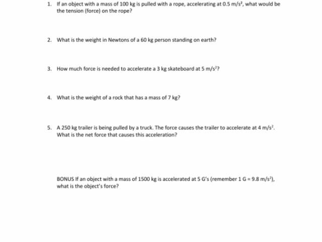 Friction And Gravity Worksheet Answers Custom Template