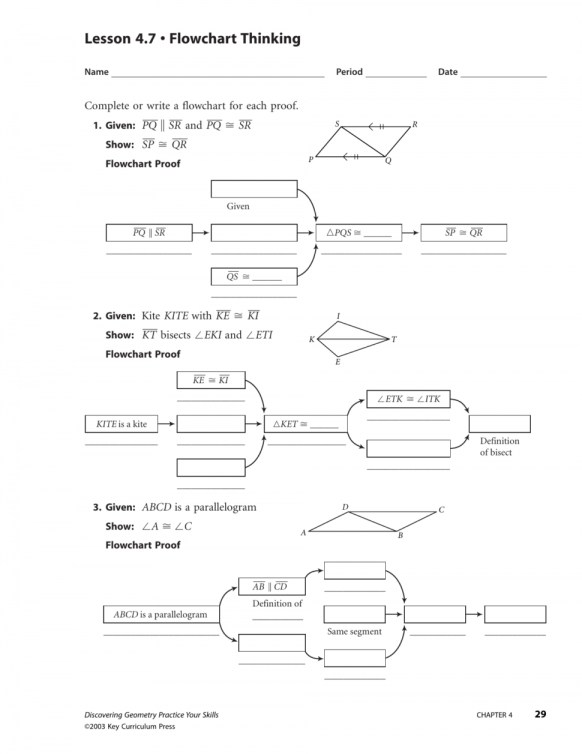 Geometry Worksheet Congruent Triangles Answers Worksheets For All