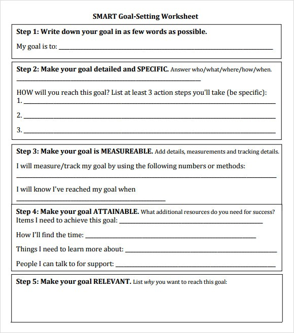 13+ Sample Goal Setting Templates