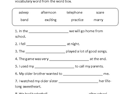 English Worksheets For Grade 9