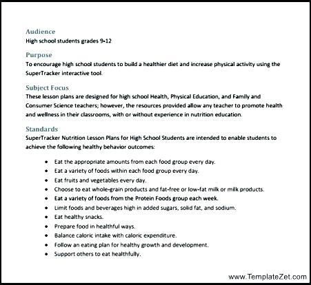 Health Lesson Plans Middle School Healthy Eating Worksheets For