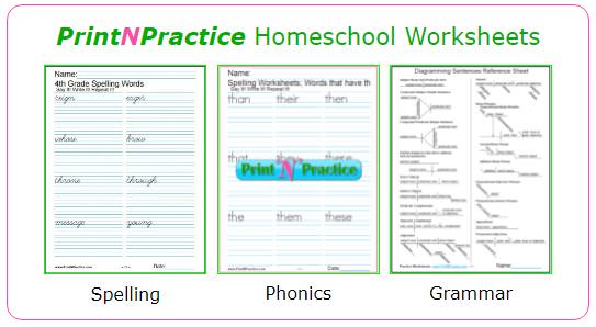 1000s Of Homeschool Worksheets ⭐ Customize For Practice