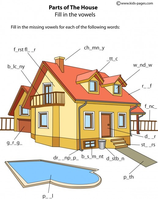 House Parts 1 Worksheet
