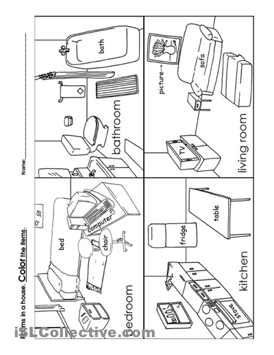 12 Best Images Of Rooms In A House Worksheet House Rooms, House