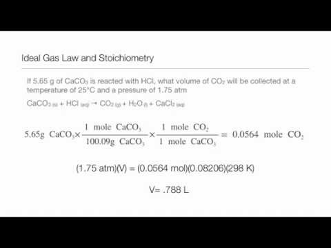 Ideal Gas Law And Stoichiometry