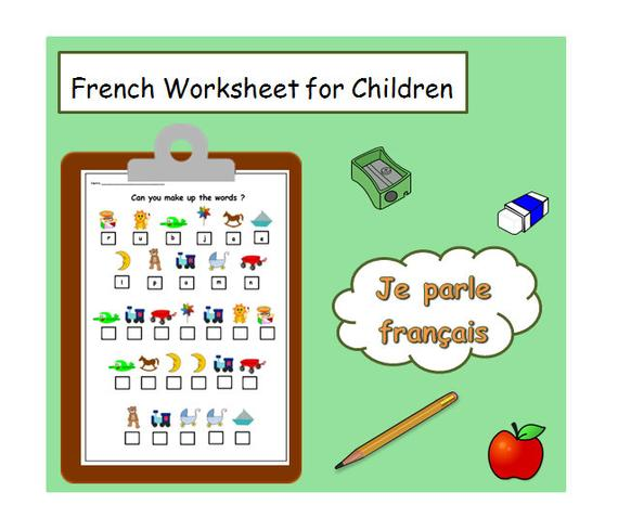 French Printable Worksheet Fun Exercise For Learning French
