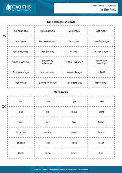 Past Simple Affirmative Negative Games Activities Esl Worksheets