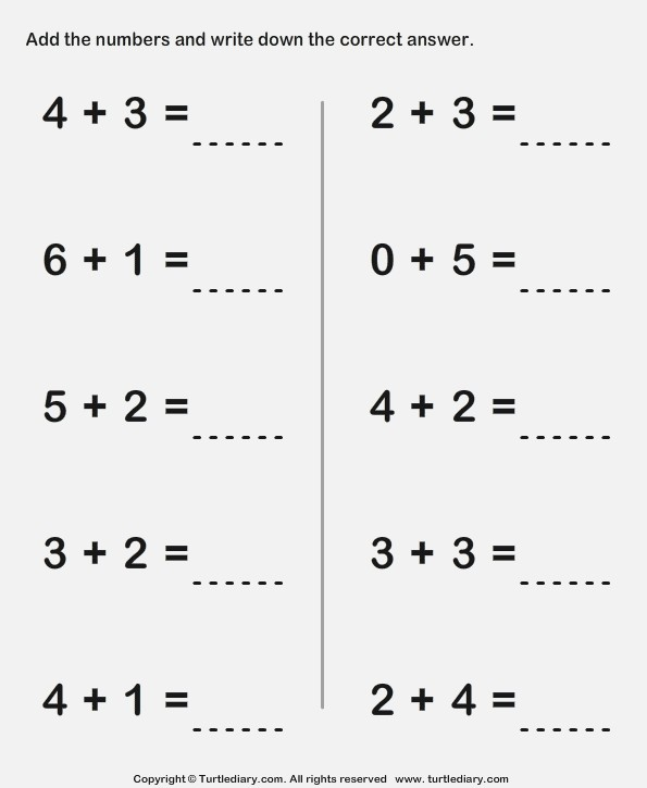 Addition Worksheet For 1st Grade – Dailypoll Co