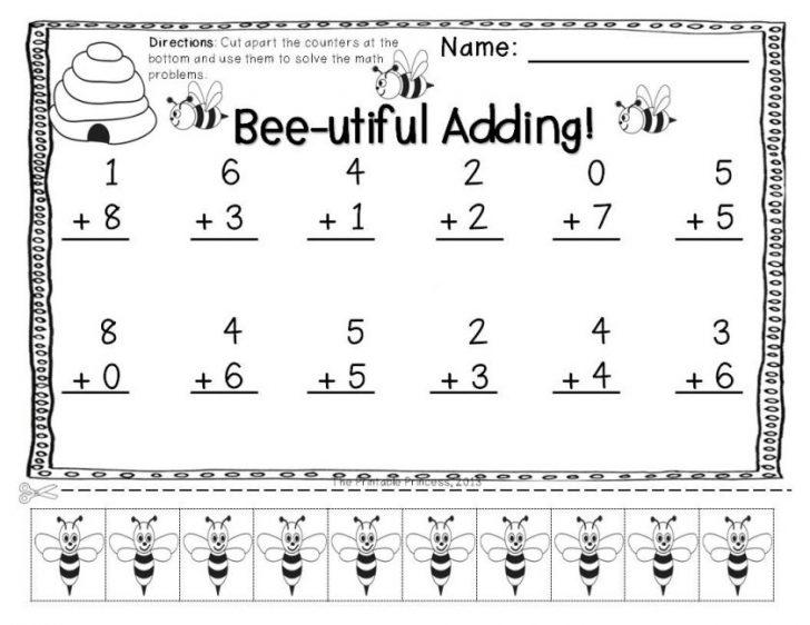 Math Worksheets 1st Grade Subtraction Worksheet Fraction Number