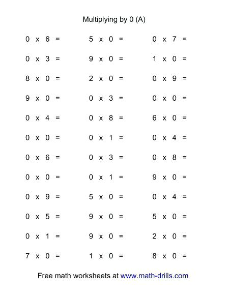 Multiplication Facts Worksheets Multiplication Facts 1 To With
