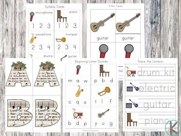 Free Musical Instruments Worksheets – Kindergarten Worksheets And