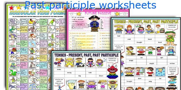 Past Participle Worksheets