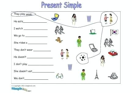 Present Tense Worksheets Luxury Simple Exercises For Kids Of