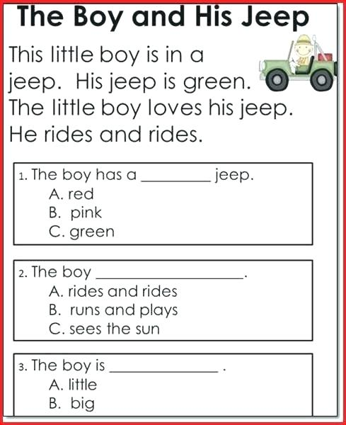 1st Grade Reading Comprehension Worksheets Printable – Mtemple Me