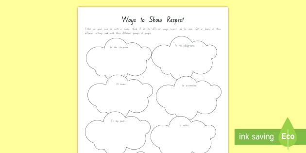 Empathy Worksheets For Students Classroom Rules Worksheet Respect