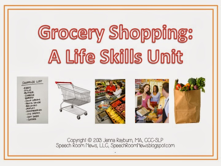 Grocery Shopping  Life Skills Unit
