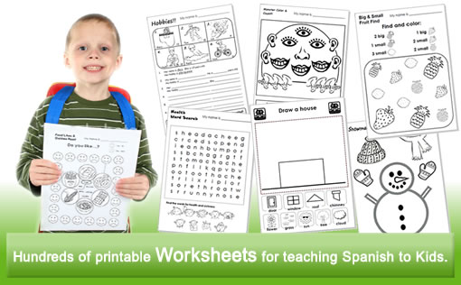 Spanish Kids Lesson Plans, Worksheets, Flashcards, Songs, Readers