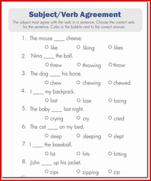Subject Verb Agreement Powerpoint 1st Grade Subject Verb Agreement