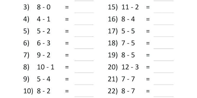 Subtraction Worksheets For Grade 1 Kindergarten Subtracting Mixed
