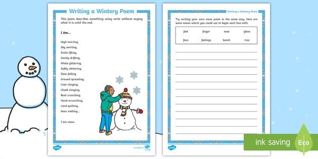 Ks1 I Am Own Poem Worksheet   Activity Sheet