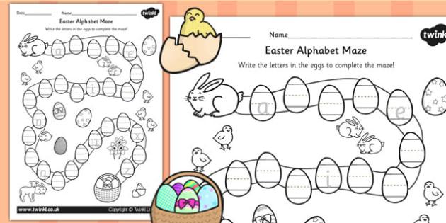 Alphabet Maze Worksheet