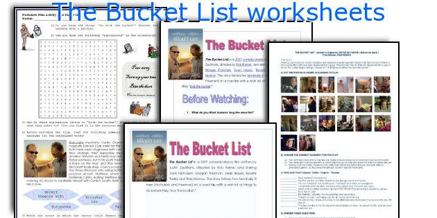 The Bucket List Worksheets