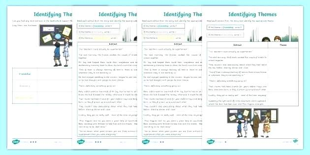 Theme Worksheets Middle School Inferences Worksheet Download Free
