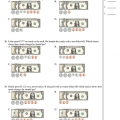 Counting Dollars And Cents Worksheets