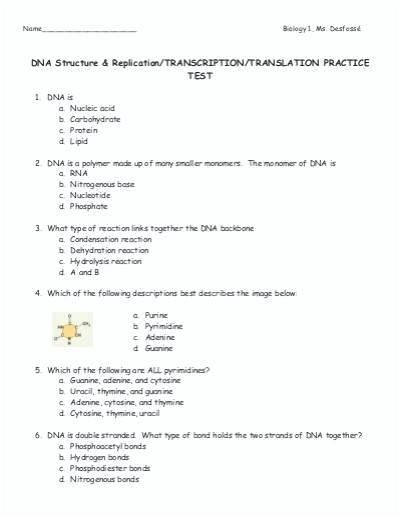 Transcription And Translation Worksheet Answers – R1trans Com