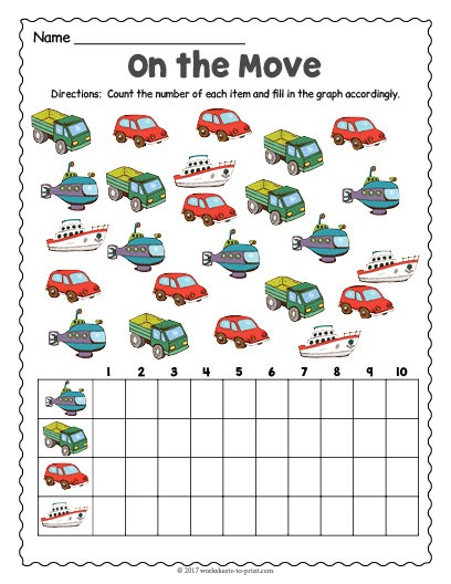Transportation Count And Graph Worksheet