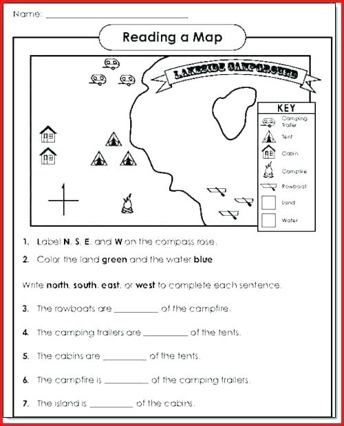 Me On The Map Worksheets Compass Points Maps Worksheet Skills For