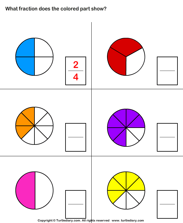 What Fraction Of Shape Is Colored Worksheet