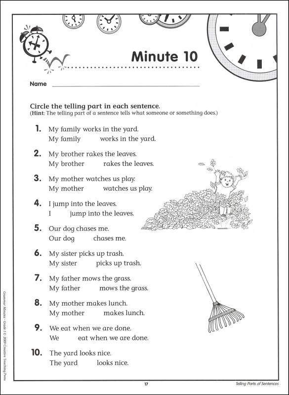 Grammar Minutes Grade 1) (creative Teaching Press) (044343