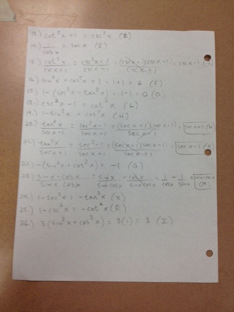 Pfeil, Jason   Trigonometry Daily Assignments And Resources
