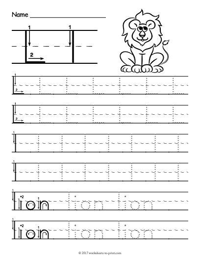 Free Printable Tracing Letter L Worksheet