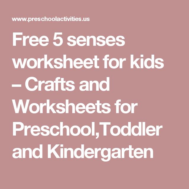 Free 5 Senses Worksheet For Kids – Crafts And Worksheets For