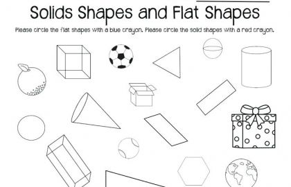 2d Shapes Worksheet Kindergarten 2d 3d Shapes Worksheets Lesson