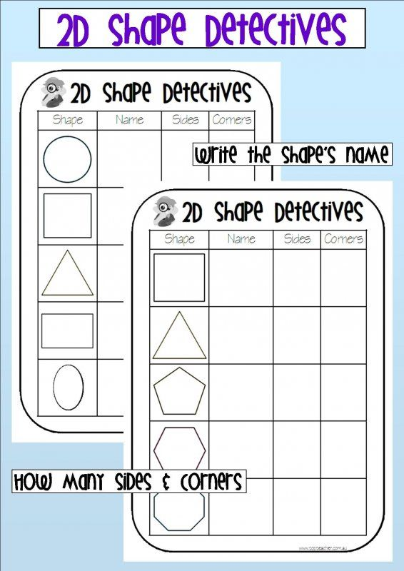 Use These Worksheets To Identify Shapes And Their Properties
