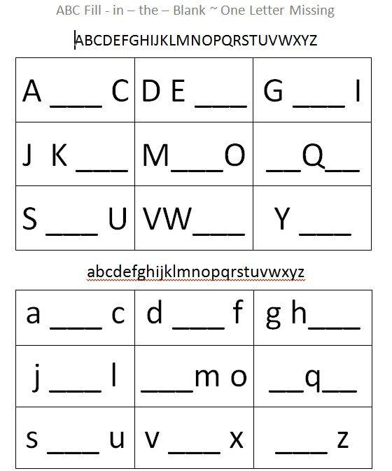 This Alphabet Fill