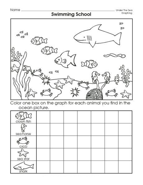 Sea Animal Graph Worksheet