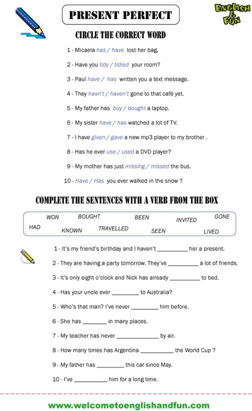 Present Perfect Past Simple Worksheets Pdf