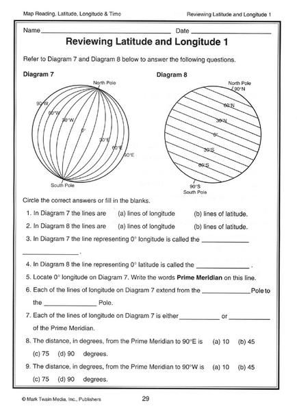 Image Result For Latitude And Longitude Worksheets