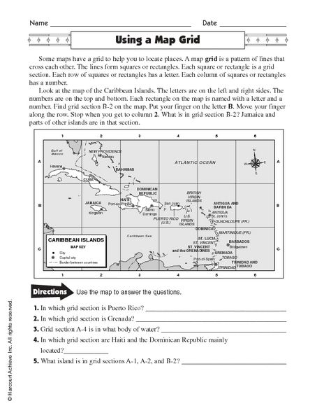 Using A Map Grid Worksheet