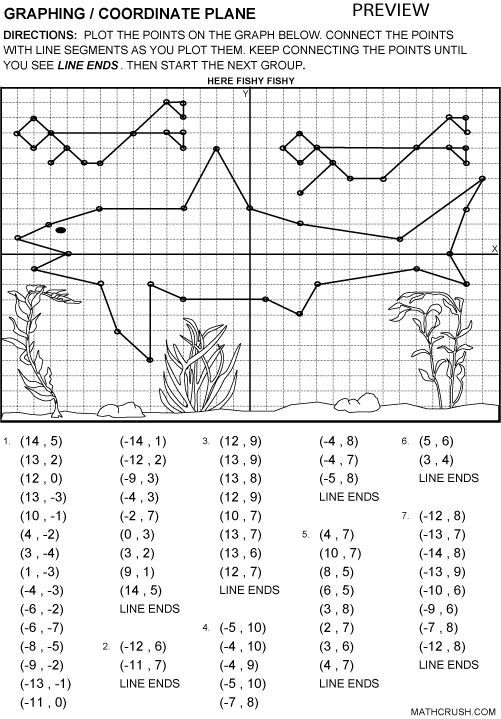 Printable Fun Coordinate Graph Worksheets