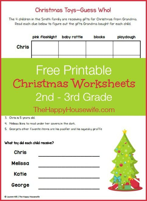 Christmas Themed Worksheets  Free Printables