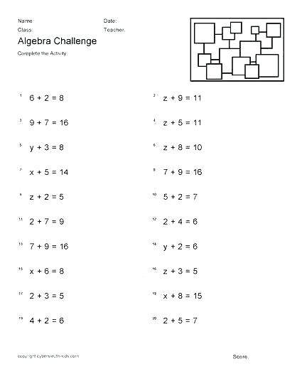8th Grade Pre Algebra Worksheet Mathematics 8th Grade Worksheets